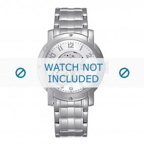 Tommy Hilfiger cinturino dell'orologio TH-43-1-14-0696 - TH679000896 / 1710158 Metallo Argento 21mm