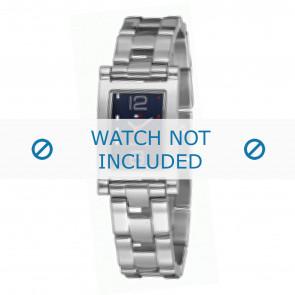 Tommy Hilfiger cinturino dell'orologio TH-45-3-14-0700 - TH679000899 / 1780752 Metallo Argento 15mm