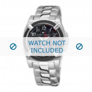 Tommy Hilfiger cinturino dell'orologio TH-50-1-14-0718 - TH679000902 / 1790636 Metallo Argento 22mm