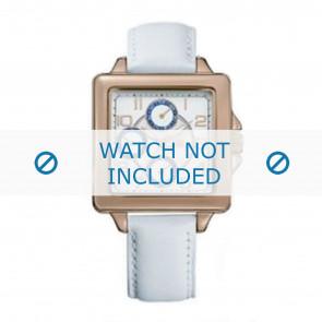 Tommy Hilfiger cinturino dell'orologio TH-65-3-34-0756 / TH1780824 Pelle Bianco + cuciture bianco