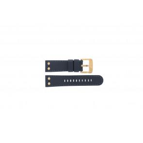 TW Steel cinturino orologio TWB404-405 Pelle Blu 24mm + cuciture blu