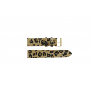 Guess cinturino dell'orologio W16574L1 Pelle Leopardo 20mm