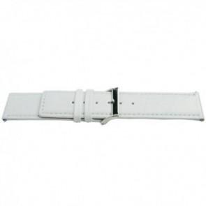 Cinturino a fascia in vera pelle, bianco, 32mm