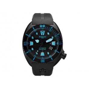 Zodiac cinturino dell'orologio ZO8018 Gomma Nero