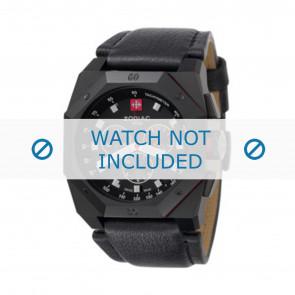 Zodiac cinturino dell'orologio ZO1800 Pelle Nero + cuciture nero
