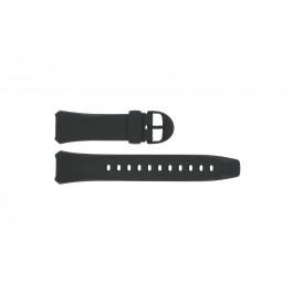 Cinturino per orologio Casio WVA-104H / WVA-104HA-2AV Plastica Nero 16mm
