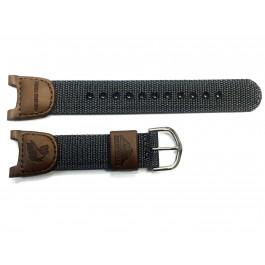 Cinturino per orologio Casio 10113394 / 2632 / PAS-400B Nylon/perlon Marrone 13mm