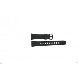 Cinturino per orologio Casio WVA-109HE / 10283660 Plastica Nero 23mm