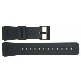 Cinturino per orologio Casio CMD-40-1UZT / CMD-40B-1UZT / DBC-30-1UZ (10285353) Plastica Nero 22mm