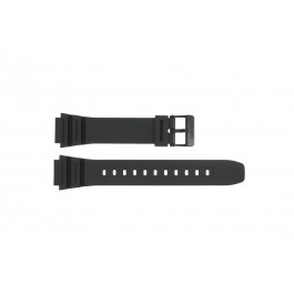 Cinturino per orologio Casio AE-1200WH / AE-1300 / F-108WH / W-216H Plastica Nero 18mm