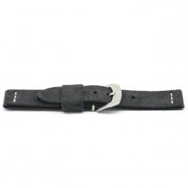 Cinturino dell'orologio G127 Pelle Nero 20mm + cuciture di default