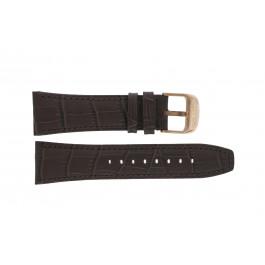 Lotus cinturino dell'orologio 18015 Pelle Marrone 26mm + cuciture marrone