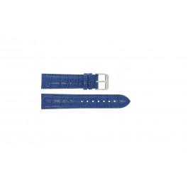 Cinturino per orologio Universale 285R.05 Pelle di coccodrillo Blu 20mm