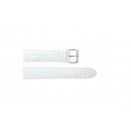 Cinturino per orologio Universale 285.09 Pelle di coccodrillo Bianco 24mm