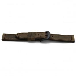 Cinturino dell'orologio H336 Pelle Marrone 22mm + cuciture marrone