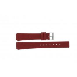 Cinturino per orologio Skagen 433SSLR / H433SSLR Pelle Rosso 15mm