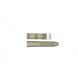 Cinturino per orologio Camel BC51010 / 6720-6729 / 6760-6769 Pelle/Tessuto Bianco crema 22mm