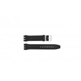 Cinturino per orologio Swatch (alt.) 51643.01.17 Pelle Nero 17mm