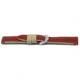 Cinturino per orologio Universale G728 Pelle Rosso 20mm
