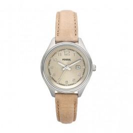 Cinturino per orologio Fossil AM4377 Pelle Beige 14mm