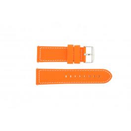 Cinturino per orologio Davis B0262 Fluor Pelle Arancione 24mm