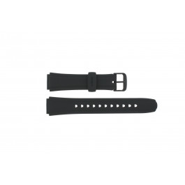 Cinturino per orologio Casio 10134116 / AW-S90-1A / AW-S90 Plastica Nero 18mm
