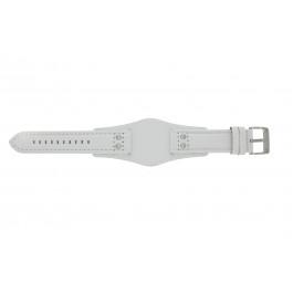 Cinturino per orologio Fossil CH2592 Pelle Bianco 22mm