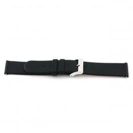 Cinturino per orologio Universale 800.R01 Pelle Nero 20mm