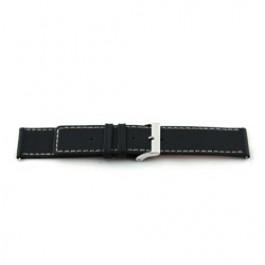 Cinturino per orologio Universale H110 Pelle Nero 22mm