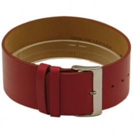 Cinturino orologio in pelle, un pezzo, 28mm, rosso CCC.1037