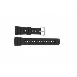 Casio cinturino orologio 10186132 Gomma Nero 16mm