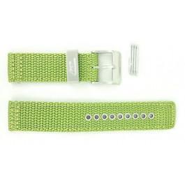 Diesel cinturino dell'orologio DZ2051 Tessuto Verde 21mm + cuciture verde