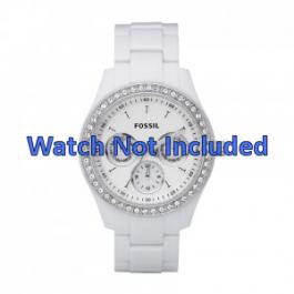 Cinturino per orologio Fossil ES1967 Plastica Bianco 9mm