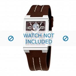 Festina cinturino dell'orologio F16224-D Pelle Marrone scuro 14mm + cuciture bianco