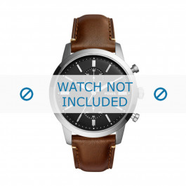 Cinturino per orologio Fossil FS5280 Pelle Marrone 22mm