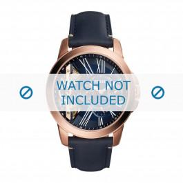 Cinturino per orologio Fossil ME1162 Pelle Blu 22mm