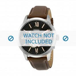 Cinturino per orologio Fossil ME3061 Pelle Marrone 22mm