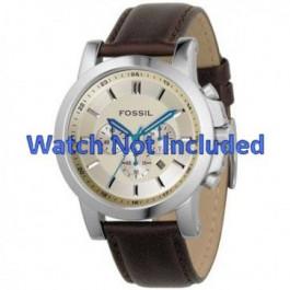 Cinturino per orologio Fossil FS4248 Pelle Marrone 22mm
