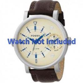 Cinturino per orologio Fossil FS4338 Pelle Marrone 24mm
