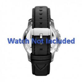 Cinturino per orologio Fossil FS4647 Pelle Nero 22mm