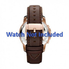 Cinturino per orologio Fossil FS4648 Pelle Marrone 22mm