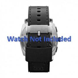 Cinturino per orologio Fossil FS4731 Pelle Nero 24mm