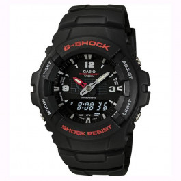 Cinturino per orologio Casio G-100 / G-101 / G-200 / G-2110 / G-2300 Plastica Nero 16mm