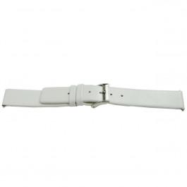 Cinturino orologio in pelle, bianco, 24mm EX-I510