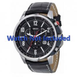 Cinturino per orologio DKNY NY1325 Pelle Nero 22mm