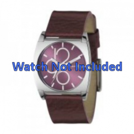 Cinturino per orologio DKNY NY3426 Pelle Bordò 24mm