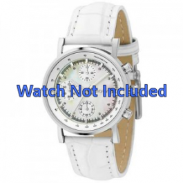 DKNY cinturino dell'orologio NY4528 Pelle Bianco 18mm + cuciture di default
