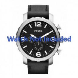 Cinturino per orologio Fossil JR1436 Pelle Nero 24mm