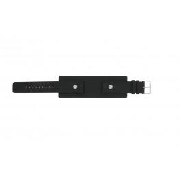 Cinturino per orologio Fossil JR8122 Pelle Nero 20mm
