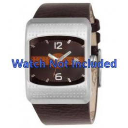 Cinturino per orologio Fossil JR9389 Pelle Marrone 16mm